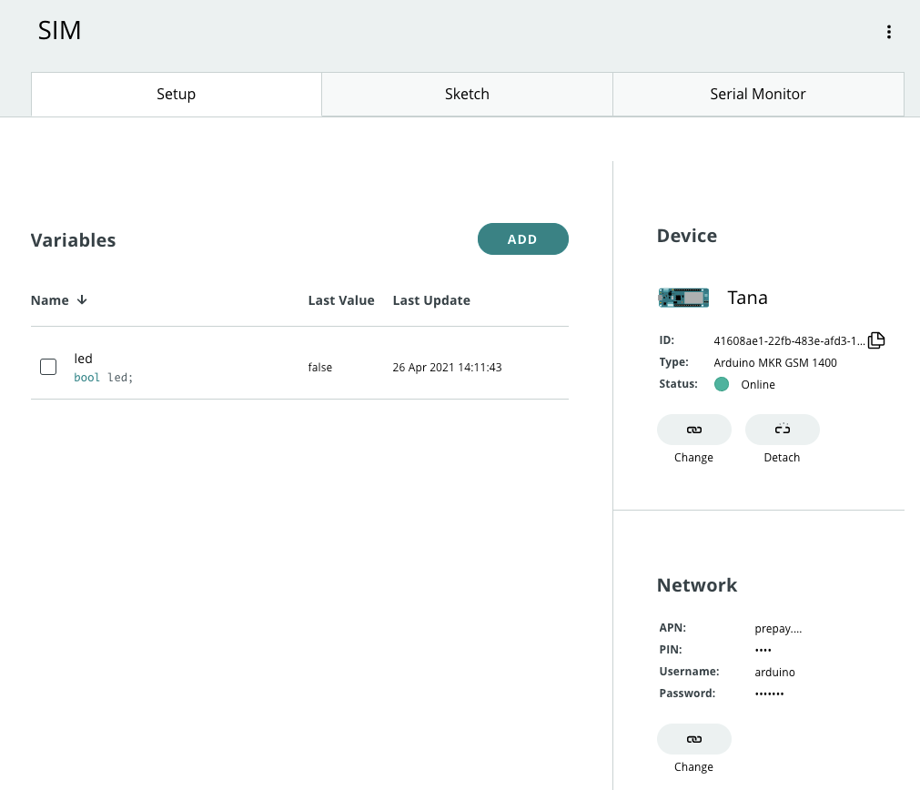 An online SIM device in the IoT Cloud