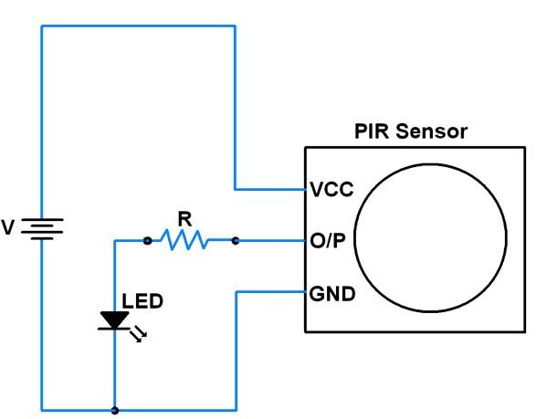 PIR sensor wiring