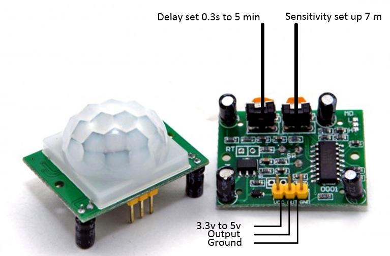 PIR sensor components