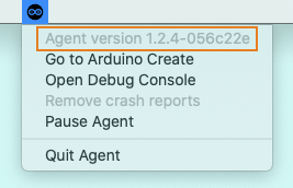 Checking the Create Agent version in the dropdown menu.