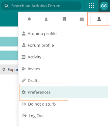 From forum preference tab select preference to change username